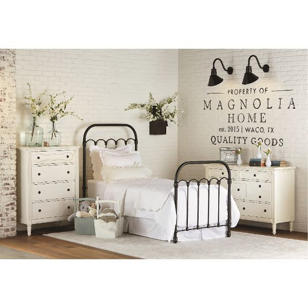 Lacks Furniture Brownsville Tx #21: Magnolia Home Furniture Blackened Bronze Twin Metal Bed