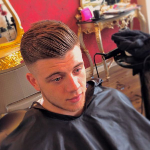 haircuts for with faces swept back barbershops hair style 9662