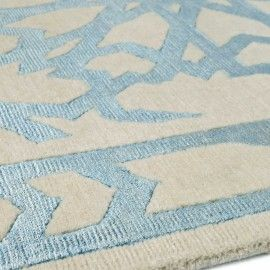 Close up of Mamounia Blue by Martyn Lawrence Bullard for The Rug Company