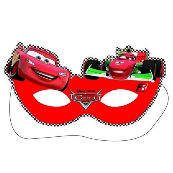Arabalar Cars Racing Sports Karton Maskesi 6 Adet Doğum Günü Aksesuarları Disney Cars Parti Gözlüğü