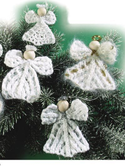 Knitting Patterns For Christmas Brooches : Christmas angel ornaments or lapel pins Knitting Pinterest Free pattern...