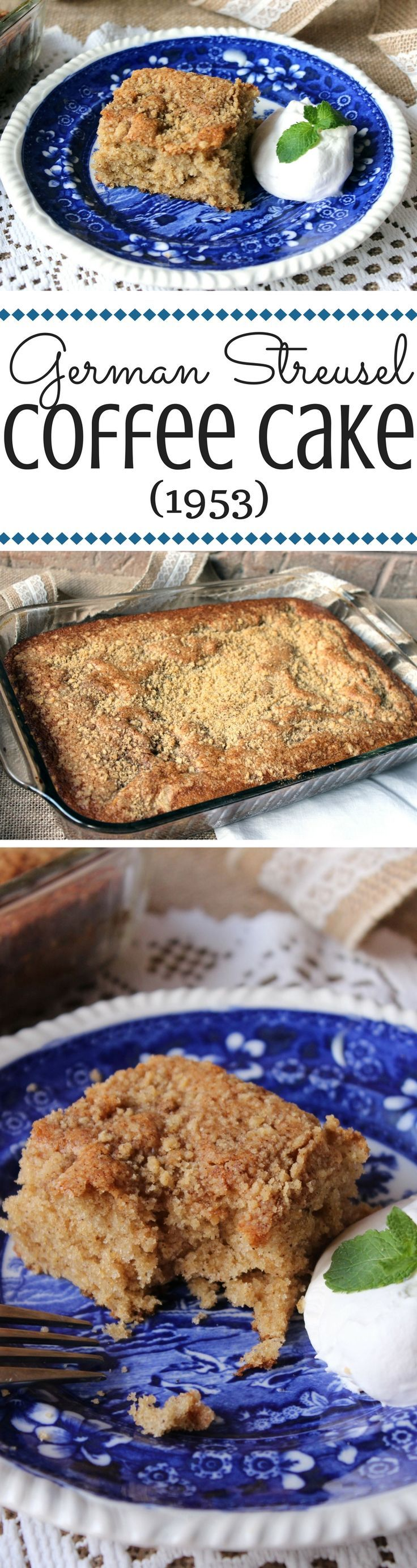 Not overly sweet, just sweet enough, this is the perfect coffee cake! It's a simple, old-fashioned recipe.