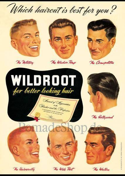 1950s mens hairstyles poster   Men's Vintage Hairstyles