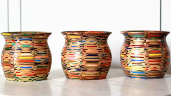 Colored Pencil Vase by EskewWoodworking on Etsy