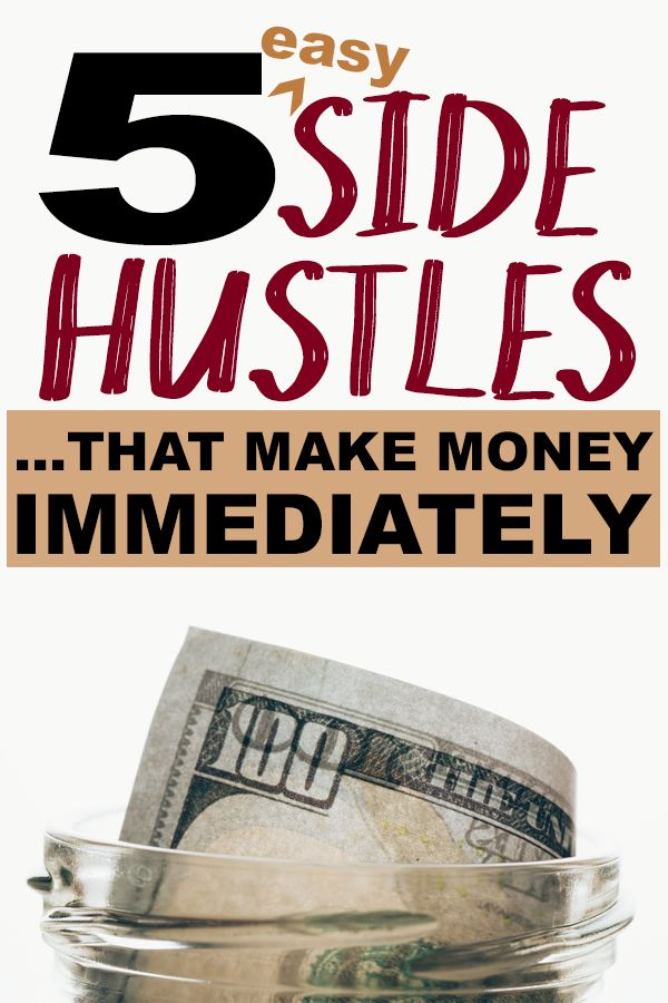 Side hustles that make money NOW aren't that common... you generally have to put in months of working from home before you see a reward! These easy money making ideas will put cash in your pocket FAST.