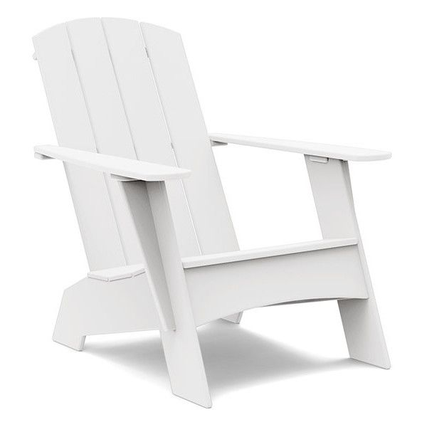 Compact Adirondack Chair | Loll Designs (£515) ❤ liked on Polyvore featuring home, outdoors, patio furniture, outdoor chairs, resin patio chairs, adirondack outdoor furniture, adirondack patio chairs, resin outdoor furniture and resin outdoor chairs