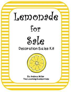 Lemonade for sale! Ice cold lemonade for sale!! Is your lemonade stand ready for lemonade day? Using these adorable print outs along with a few other props or decorations you can set up the perfect lemonade stand and be ready to open for business. Items included: Lemonade Bunting Lemonade for Sale Sign Price Tags (x8)Menu Sign (x2)Our Sharing Plan SignOur Saving Plan Sign Our Spending Plan SignOur Sharing Goal Sign Our Saving Goal Sign Our Spending Goal SignOpen and Closed Sign  Tip label…