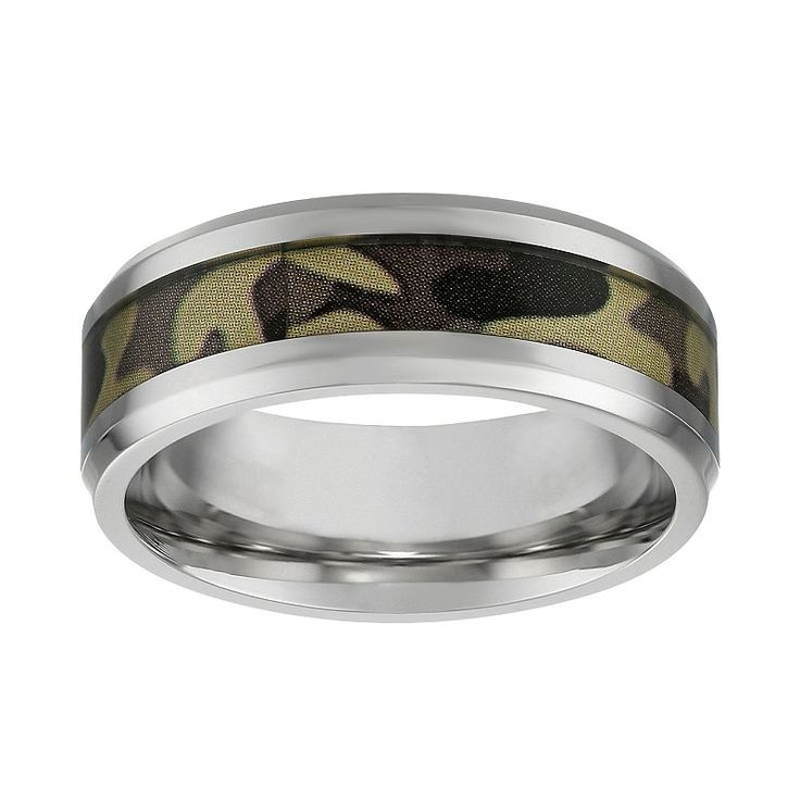 Lynx Stainless Steel Camouflage Band - Men, Size: 1