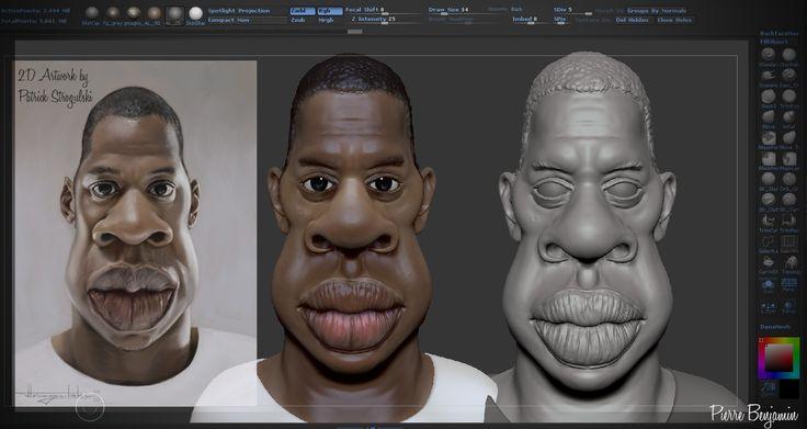 Update on Jay-Z sculpt! video soon! Original concept by Caricature Patrick Strogulski ((http://patrick-strogulski.blogspot.co.uk/)