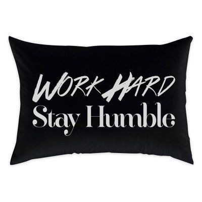 Oliver Gal 14 x 20 in. Work Hard Throw Pillow - 11455.PILLOW_14X20_MF