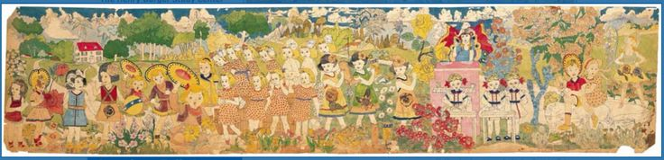 Henry Darger is a major figure in 20th Century American art. Despite his unusual life and strange behavior, he has not generally been considered mentally ill. Although, MacGregor in the appendix to his book on Darger, speculates that the most fitting diagnosis is autism, of an Asperger syndrome. While looking at most of his pieces, I noticed to show an obsession, he used a lot of repetition. Showing similar objects over and over definitely emphasizes it and shows the obsession.