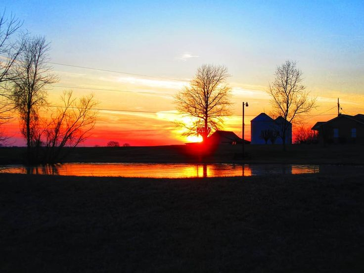 Today's sunset with a pond . . . #silhouette_creative #ponds #midtn #rover #reflection_shotz #rovertn #tennesseesunset #sunset_lover #sunset_madness #sunsetlovers #sunset_hub #sunsetsniper #chasingthegoldenhour #lovenature #nature_perfect_day #horizonline #solohike #livelifeoutside #hikingislife #tnstateparks #nationalparks #ventureout #canonpowershot #canonphotography #mycanonstory #visualwanderlust #adventurethatislife #barn #cloudz_delight #cloudscape