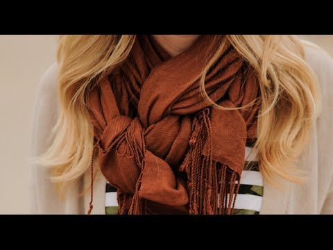 Woven Scarf Knot. - That's Your Gold