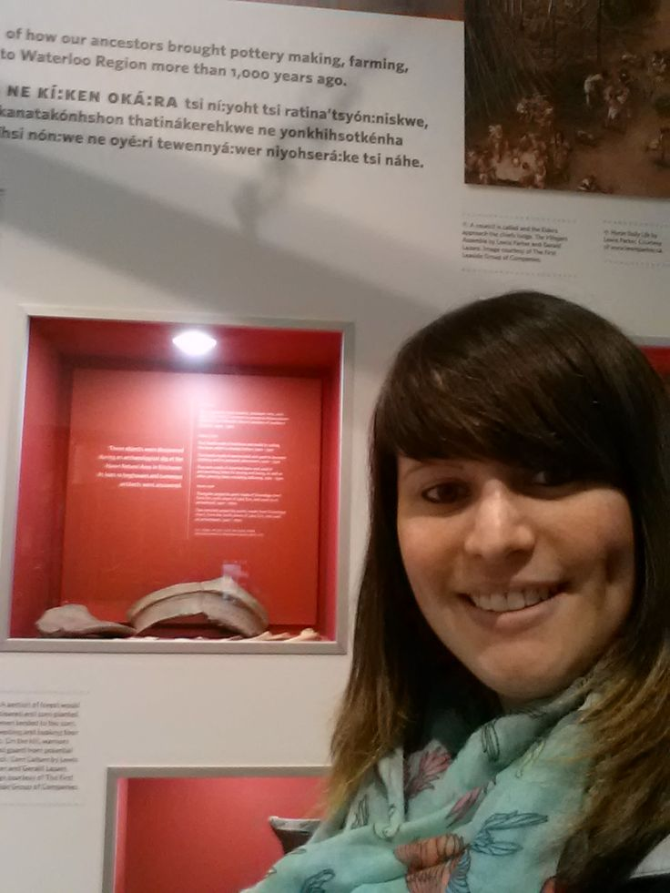 Collections and Laboratory Manager Andrea visited a display in the Waterloo Region Museum that ARA contributed artifacts to.