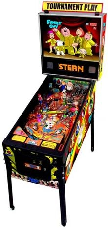 FAMILY GUY is also Stern Pinball's newest pinball machine, designed by Pat Lawlor