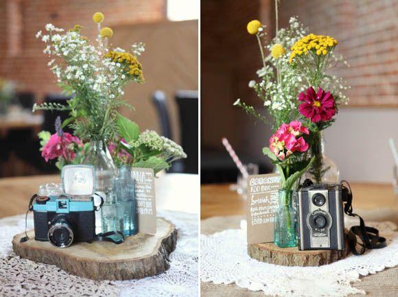 vintage cameras as table names