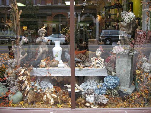 autumn and fall window display: Autumn Window Displays, Window Ideas, Shops Window, Bones, Fall Window Displays, Fall Vignettes, Moss Fall, Window Decor, Fall Display