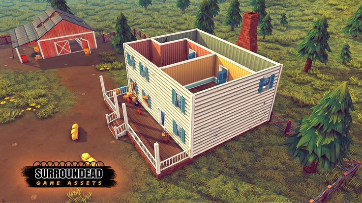 SurrounDead - Survival Game Assets (modular buildings with interiors)   AVAILABLE ON UNITY ASSET STORE: https://www.assetstore.unity3d.com/en/#!/content/76276