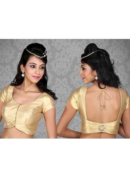 Gold Shimmer Fabric Blouse for Wedding