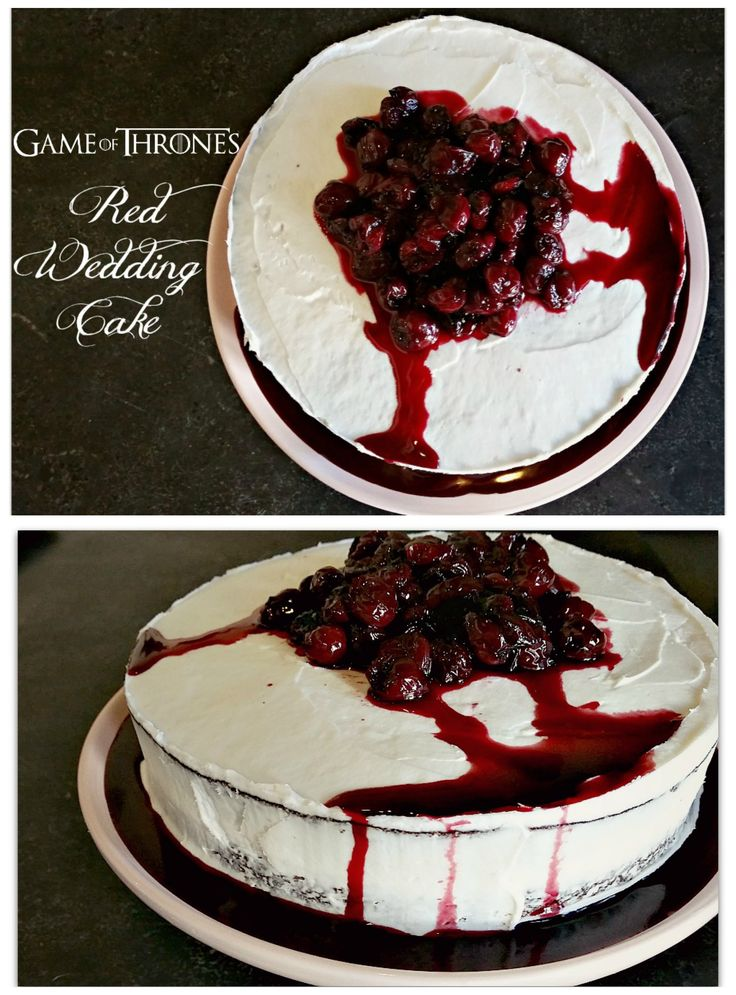 Game of Thrones Red Wedding Cake - perfect for the GoT premiere! This easy, red velvet cake is perfectly fluffy and moist. It will be the talk of your premiere party!