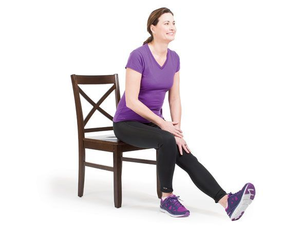 Hamstring Stretch Keep Back Straight And Gently Lean Forward From Hips Till