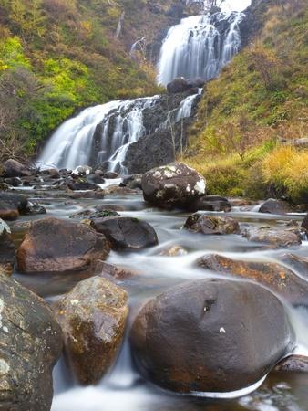 Flowerdale Falls, a Waterfall Near the Village of Gairloch, Torridon, Scotland, United Kingdom