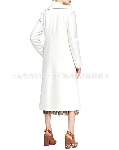 Lingswallow Womens Elegant Double Breasted White Casual Pockets Long Trench Coat Buy New:$67.59-$70.99
