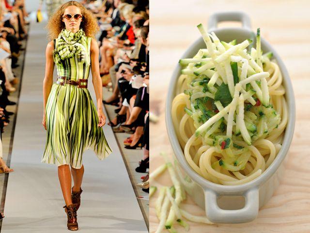 Oscar De La Renta ss 2012 / Spaghetti with julienne cut zucchini flavoured with truffle oil