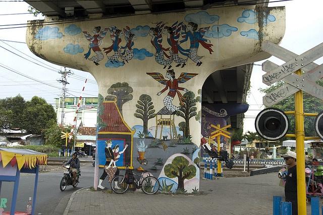 Indo09442 street art mural art and graffiti for Mural yogyakarta