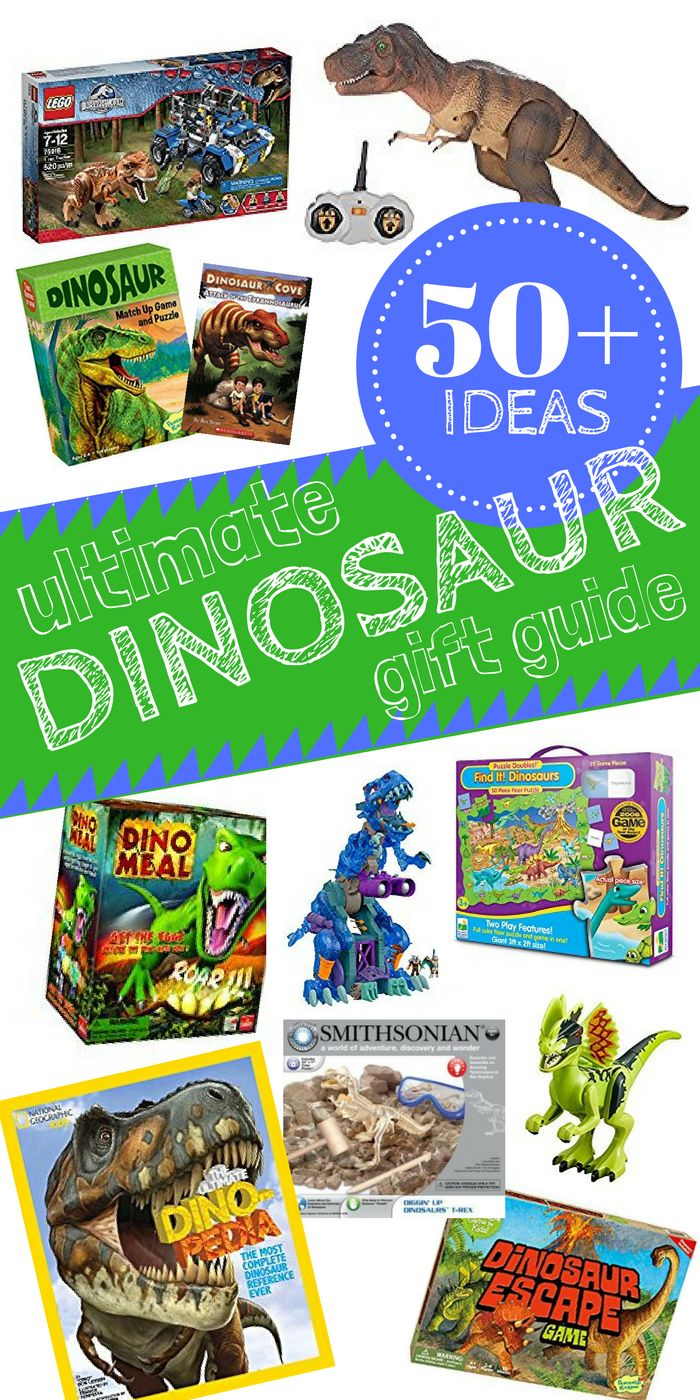 The Ultimate Dinosaur Gift Guide - More than 50 gift ideas for the Dino Lover in your life! Toys, Games, Books and more!