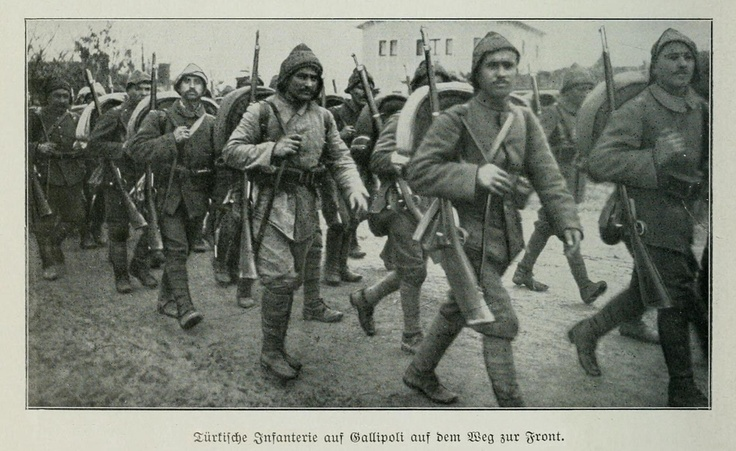 OTTOMAN TROOPS ARE MOVING TOWARDS THE GALLIPOLI FRONT
