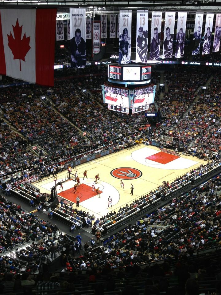 Visit the Air Canada Centre to see a concert, watch the Toronto Maple Leafs (hockey) or cheer for the Toronto raptors (basketball)! Go Leafs!