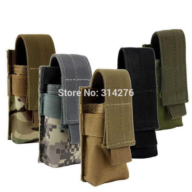 Nylon Belt Holster Case for Tactical Flashlight Molle Pouch Up to 140 mm/ 5.5 inches long For Fenix PD35 TK11 Coast PX25