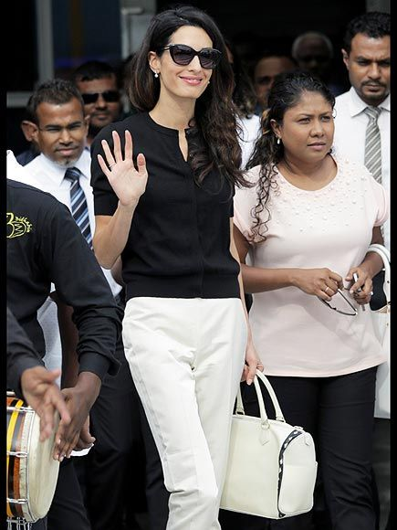 Star Tracks: Monday, September 7, 2015 | ON A MISSION | Lawyer and activist Amal Clooney arrives in the Maldives on Monday to press for the release of ex-leader Mohamed Nasheed.