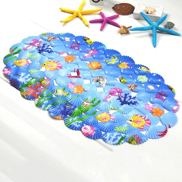 3D Cartoon Anti-Slip PVC Bath Mat With Suction Cups Seaworld Turtle Fish Carpet Used For Bathroom lovely animal