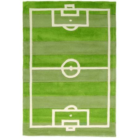 Dunelm Football Pitch Soft Green Rug