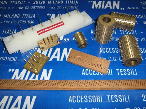 Various works with #pins for #textile industry and #stenter #machine