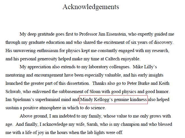 Dissertation acknowledgment