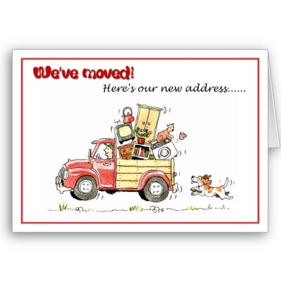 moving home cards template - 1000 images about new address announcements on pinterest