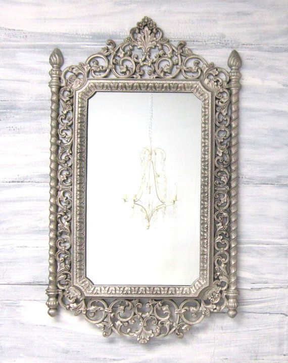 Decorative vintage mirrors for sale silver by for Fancy mirrors for sale