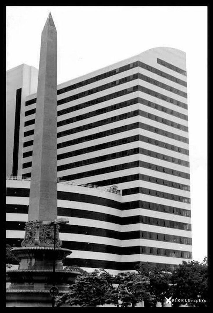 Arquitecture ArquiteturaeUrbanismo Obelisk Caracas City Four Seasons Hotel Blackandwhite Photography Pixelgraphix Lines And Shapes