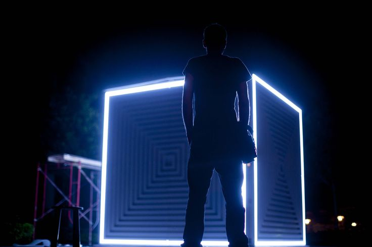Light and Sound Cube Installation by Visual Ststem.  www.visualsystem.org