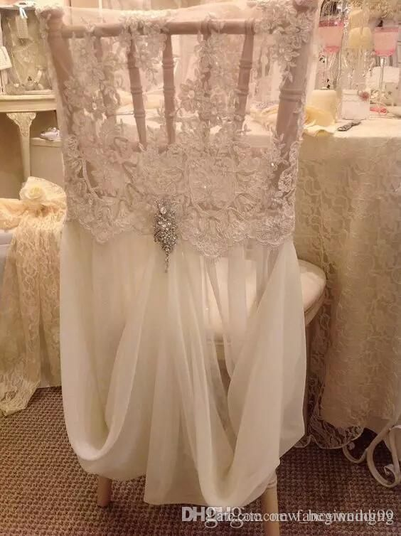 Chair Covers For Parties To Buy Poang 2018 Simple Cheap Sashes Chiffon Wedding Cover Romantic Bridal Party Banquet Back Favors Supplies Fast Shipping From