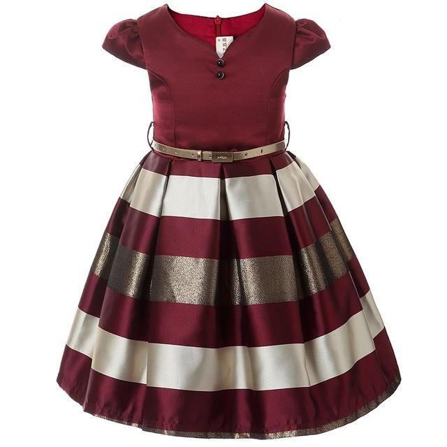 Little Girls Sleeveless Striped Party Dress/Jumper 3-10yrs