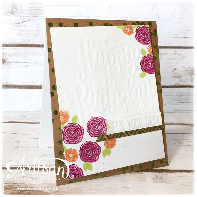 Bada-Bing! Paper-Crafting!: Happy Birthday Gorgeous Embossed Card - Stampin' Up Global Artisan Design Team Blog Hop
