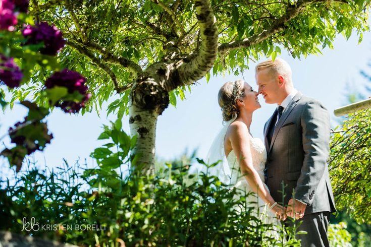 Bride and groom in the garden (Kristen Borelli Photography, Victoria Wedding Photographer, Pine Lodge Farms Wedding Photographer, Vancouver Island Wedding Photographer, Nanaimo Wedding Photographer, Destination Wedding Photographer, BC Wedding Photography)