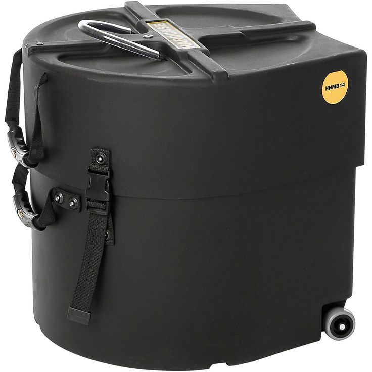 HARDCASE Marching Bass Drum Case with Wheels 14 in.
