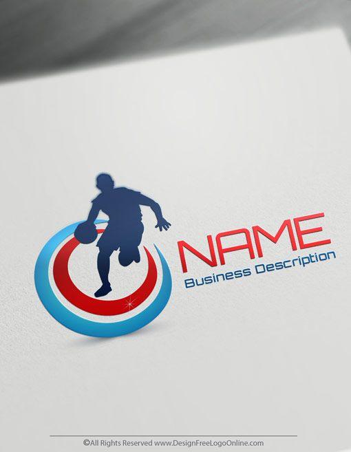 Free Sports logo maker - Online Basketball logo template