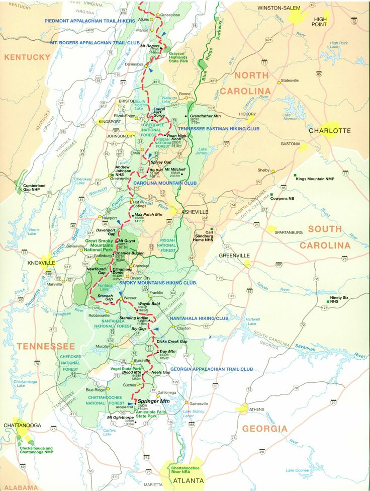 Detailed Appalachian Trail Maps