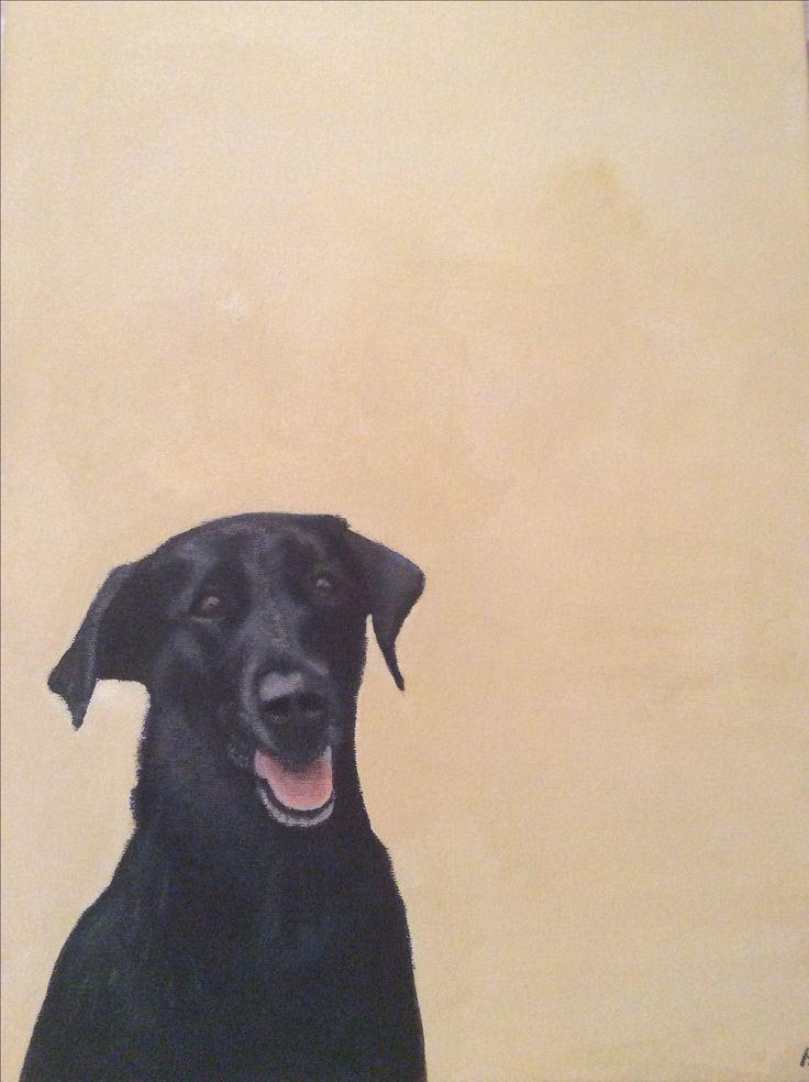 Alfie acrylic painting